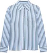 Prada Striped Cotton Shirt - Blue