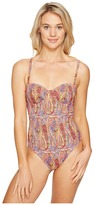 Echo Paisley Underwire One-Piece Swimsuit Women's Swimsuits One Piece