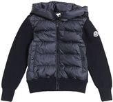 Moncler Hooded Nylon & Wool Knit Jacket