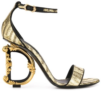 Dolce & Gabbana baroque heeled sandals