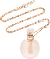 Jacquie Aiche Medium Round Rose Quartz Potion Bottle Necklace
