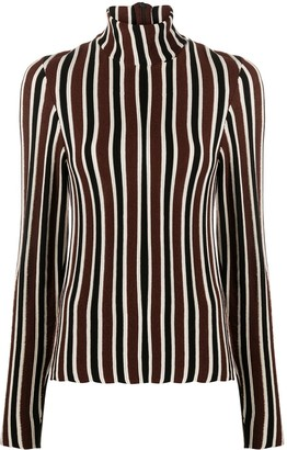Christian Wijnants Striped Pattern High Neck Jumper