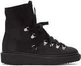 Kenzo Black Nubuck Ankle Boots