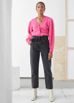 And other stories Denim Paperbag Waist Trousers
