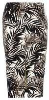 Wallis Palm Print Pencil Skirt