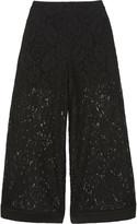 Emilio Pucci Cropped cotton-blend corded lace wide-leg pants