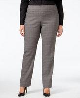 Charter Club Plus Size Cambridge Plaid Slim-Leg Pants, Only at Macy's
