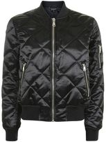 Topshop Quilted shiny ma1 jacket