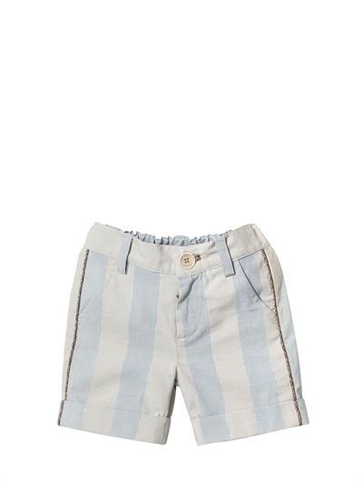 Fendi Striped Cotton Bermuda Shorts