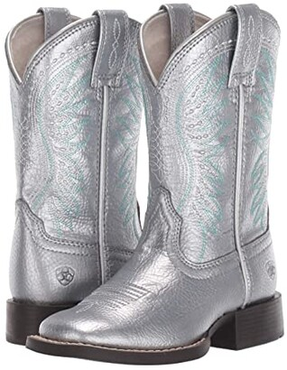 Ariat Rodeo Jane (Toddler/Little Kid/Big Kid) (Shining Silver) Cowboy Boots