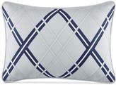 """Tommy Hilfiger Closeout! Josephine Argyle Applique 12"""" x 18"""" Decorative Pillow Bedding"""
