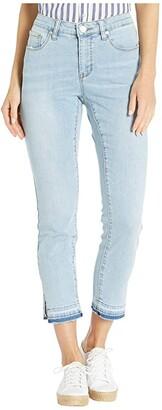 Tribal Five-Pocket Crop w/ Side Slit Released Hem Detail in Blue Sky (Blue Sky) Women's Jeans
