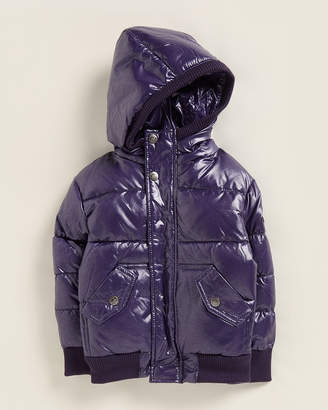 Appaman Toddler Girls) Sparkle Purple Puffy Down Coat