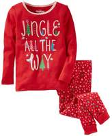 "Osh Kosh Oshkosh Bgosh Girls 4-14 Jingle All The Way"" Christmas Top & Bottoms Pajama Set"