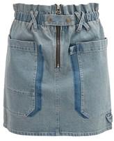 Sea Mara Paperbag-waist Denim Mini Skirt - Womens - Denim