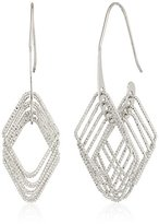 Shashi Shaker Silver Tone Hoop Earrings