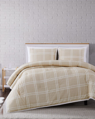 Truly Soft Leon Plaid Khaki Comforter Set