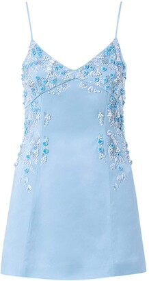Blumarine Embroidered Viscose Blend Mini Dress