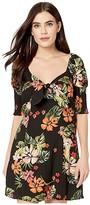 Lost + Wander LOST + WANDER Aloha Lei Mini Dress (Black) Women's Clothing