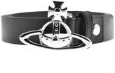 Vivienne Westwood Orb Buckle Leather Belt Black