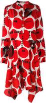 Stella McCartney asymmetric printed dress - women - Silk - 44