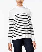 XOXO Juniors' Chiffon-Back Striped Sweater