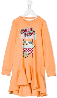 Fendi Cotton Candy sweatshirt dress