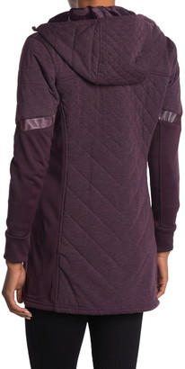 Be Boundless Quilted Knit Hooded 3/4 Length Coat