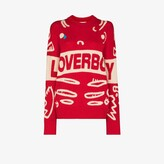 Thumbnail for your product : Charles Jeffrey Loverboy Red Graphic Logo Sweater