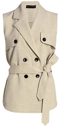 Donna Karan Double-Breasted Trench Vest