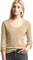 Gap Vintage wash scoop neck sweater