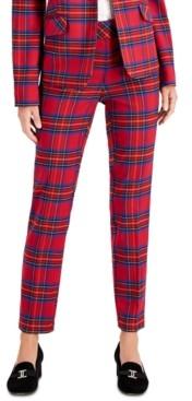 Charter Club Petite Tartan Slim-Leg Pants, Created For Macy's
