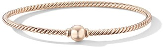 David Yurman 18kt rose gold Solari Center Station rose gold dome bangle
