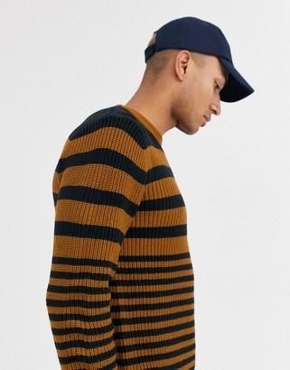Topman jumper in brown stripe