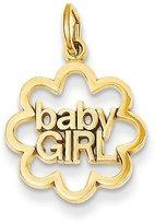 Bijou 14k Gold Polished Baby Girl Pendant
