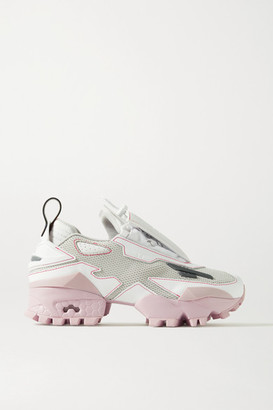 Reebok Pyer Moss Trail Fury Mesh And Faux Leather Sneakers - Stone