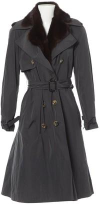 Lanvin Grey Trench Coat for Women Vintage