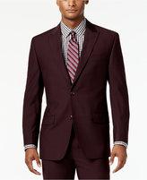 Sean John Men's Classic-Fit Burgundy Solid Suit Jacket