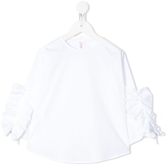 Il Gufo Frill-Detail Long Sleeve Top