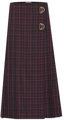 Burberry Checked wool midi skirt