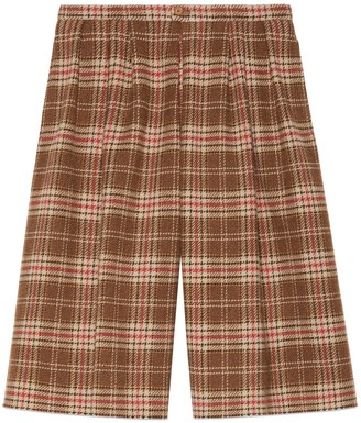 Gucci Check wool shorts
