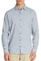 Saks Fifth Avenue Regular-Fit Tonal Check Cotton Sportshirt