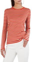Akris Punto Mixed-Striped Crewneck Top