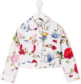 MonnaLisa floral print jacket - kids - Cotton/Spandex/Elastane - 5 yrs