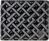 Versace Black Patent Greek Key Wallet