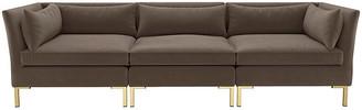 One Kings Lane Marceau Modular Sofa - Smoke Velvet