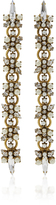 Erickson Beamon Dancing Queen 24K Gold-Plated Crystal and Pearl Earrings