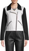 Wythe Ny Colorblocked Denim Jacket