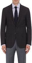 Isaia Men's Plaid Wool Sanita Sportcoat-BROWN