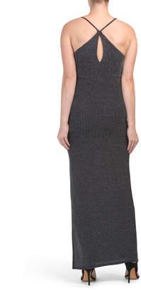 V Neck Cami Maxi Knit Dress